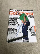 Luke Donald Golf Signed Autographed Magazine Pga Coa Masters