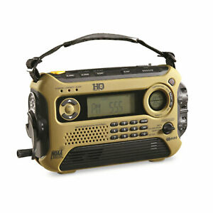 HQ Issue Multi Band Crank/Solar Powered Emergency NOAA Weather Radio w/ LED