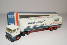 ± LION CAR DAF 2800 TRUCK WITH TRAILER KOELTRANSPORT TILBURG EXCELLENT BOXED