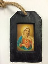 Blessed Virgin Mary Religious Picture Pendant (RP04) - Island Turf Crafts