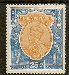 INDIA 1926-31 KGV 25R SG219 LIGHTLY HINGED