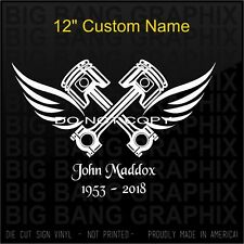 In Memory Of Decal Mechanic Airplane Aircraft Heavy...