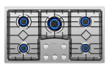 """Cooktop Empava 36"""" Gas 5 Burners Built-in Stove Tops Stainless Steel Cooker B90S"""