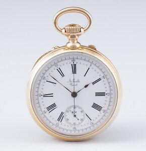 Auguste Ecalle Horloger de la Marine, Pariser Anker-Chronometer Chronograph 1870