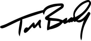 Tom Brady Signature VINYL DECAL STICKER football sports