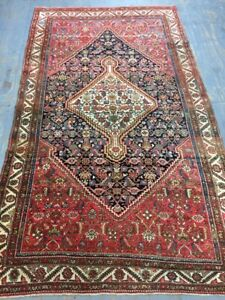Old Used Antique Per Sian Handmade Wool Rug,Carpet,Shabby Chic,Size:9.5By 5.6Ft