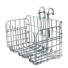Folding Adult Bike Bicycle Metal Basket Front Back Bicycle Rear Basket Silver