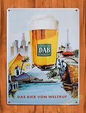 "TIN-UPS TIN SIGN ""Dortmunder Beer"" Vintage Ale Alcohol Bar Rustic Wall Decor"