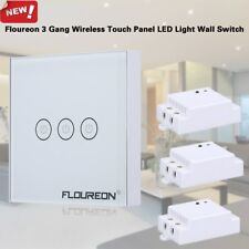 3Gang 1Way Smart Touch Wireless RF Remote Control Home Wall LED Light Switch US