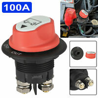 100A Car Battery Switch Cut Off Disconnect Isolator Switch For RV Boat Car Truck