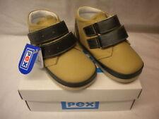 Leather Medium Width Baby Shoes with Hook & Loop Fasteners