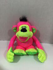 Fisher Price Puffalump Monkey Chattering Chimps Neon Pink Plush Ape Toy 1994