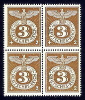 DR Nazi 3rd Reich Rare WWII WW2 WK2 Stamp Official SA SS Service Swastika Eagle