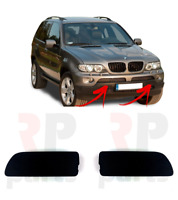 FOR BMW X5 SERIES E53 03-06 NEW FRONT BUMPER TOW HOOK EYE COVER CAP PAIR SET