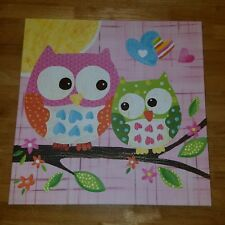 Circo Love 'n Nature Owl Wrapped CANVAS Picture 21×21