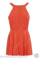 NEW Women Summer Ladies Sexy Celeb Playsuit Size 8 10 12 Shorts Orange Play suit
