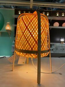 """Ikea KNIXHULT Table lamp, bamboo/handmade 15 """" - NEW"""