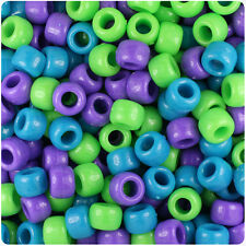 500 Delicious Mix Opaque 9x6mm Barrel Pony Beads USA Made by The Beadery