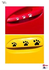 Puppy Dog Paw Foot Print Sticker Decal Car Ute -BLACK-