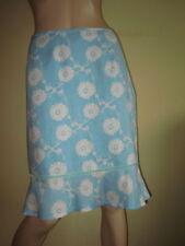 Knee Length Linen Floral Flippy, Full Skirts for Women