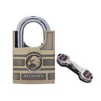 MINDY Lock 50mm Half Shroud Solid Alloy High Security Padlock & 4 Strong Keys