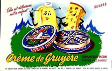 Ancien buvard publicitaire Crème de Gruyère Fromageries Picon, Haute- Savoie