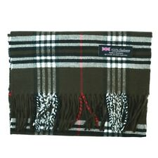 Men Women unisex 100%CASHMERE Scarf tartan stripe Plaid Wool SCOTLAND