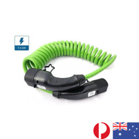 EV Cable Type 2- Type 2, Curly 5m (Tesla, Renault, VW, Hyundai)- High Visibility