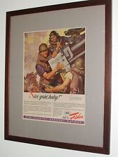 General Motors Fisher Body Works WW2 Ad Advertisement Chevrolet Buick Cadillac