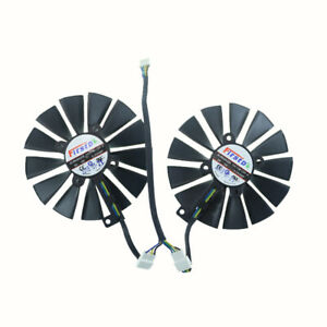 2PCS FDC10M12S9-C Graphic Card Cooling Fan For ASUS DUAL RX580 O8G