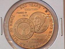 Rye, New York 300th Anniversary Medal, Westchester cty