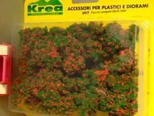 Cespugli con fiori rossi per plastico ferroviario o diorama gr. 45 - Krea 207