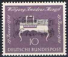 228 ** BRD 1956,  W.A. Mozart. 200. Geburtstag