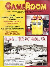 GameRoom Magazine Williams Post Pinball Era Tom Callahan April 2001