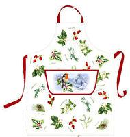 Christmas Garden Cotton Apron by Samuel Lamont