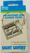 Bausch and Lomb Sight Savers Pre-Moistened Lens Cleaning Tissues    Box of 14