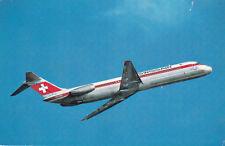 Mcdonnel Douglas DC9-51 Swissair Postcard Unused VGC