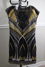 TED BAKER Women's Black and White Gem Neckline printed  Dress 2(dr1000