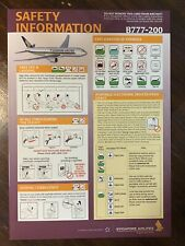 (RARE) Singapore Airlines Boeing B777-200 Safety Card