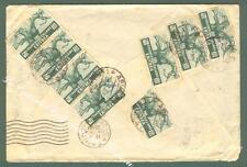 Storia postale. COLONIE ITALIANE, ERITREA. 8 pezzi cent. 25 verde serie...