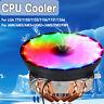 LED RGB DISSIPATORE VENTOLA RAFFREDDAMENTO CPU CON 4 TUBI DI CALORE PER AMD