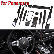 5D Glossy Carbon Fiber Sticker Interior Trim Vinyl Decal for Porsche Panamera