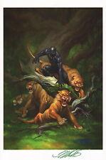 Frank Cho SIGNED Marvel Comic Super Hero Art Print ~ Black Panther / Avengers