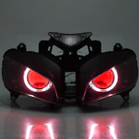 Assembly Projector Headlight Angel Red Devil Eye Kit For Honda CBR1000 2004-2007