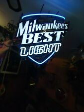 Old Milwaukee Best Neon Beer Light Bar Sign Big Man Cave Sale Check It Out