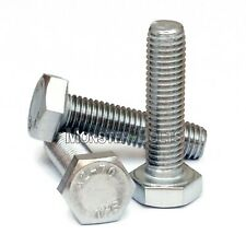 M4-0.70 x 12mm  Stainless Steel Hex Cap Bolt / Screw, Coarse DIN 933 Tap A2 18-8