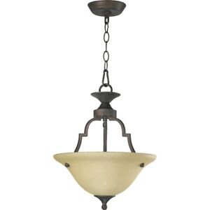 Quorum Coventry 2 Light Pendant, Toasted Sienna - 215-44