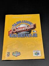 MLB Major League Baseball Featuring Ken Griffey JR Manual Nintendo 64EXMT