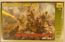 Zvezda 1/35 Soviet Assault Troop Team 1943-1945 WWII Figure Model Kit 3509