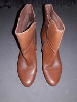 Nine West Womens Genoveva Pumps Ankle Boots Shoes 5.5 Medium brown Leather NWOB